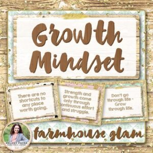 Growth Mindset Posters {36 Rustic Farmhouse Glam Signs}