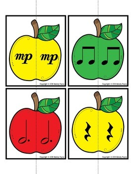 Partner Cards: Apple Cards for Choosing Partners {Music Symbols}