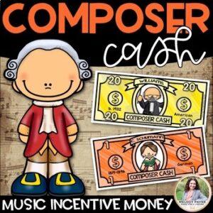 Composer Cash {Music Money, Dollars, Bucks, Class Cash for Incentives}