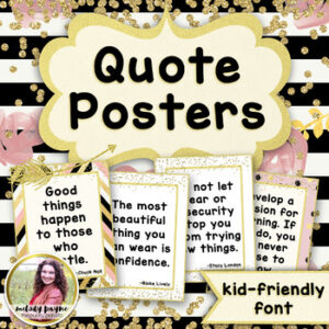 Quote Posters to Encourage and Inspire {36 Chic & Glam Signs, Print Font}