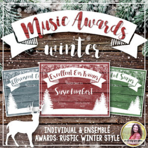 Music Awards {Rustic Winter, Editable: Add Your Students' Names}