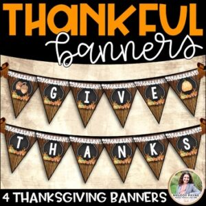 Thanksgiving Banners {4 Rustic Autumn Banners}