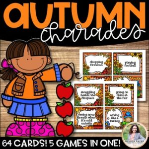 Autumn & Fall Charades & Other Games {5 Games in 1, + Gameboards!}