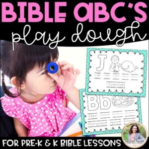 Bible ABC's Play Dough Alphabet Mats/Coloring Pages for Pre-K and K