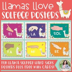 Solfege Hand Signs Posters: Llamas Llove Solfege! {Music Class Decor}