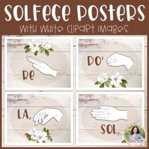 Solfege Hand Signs Posters: Magnolias & Shiplap {Music Class Decor}