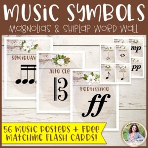 Music Symbols & Dynamics Word Wall Posters {Magnolia Music Class Decor}