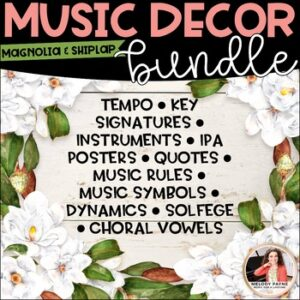 Magnolia & Shiplap Music Decor BUNDLE! {Symbols, Instruments, Rules, & More!}