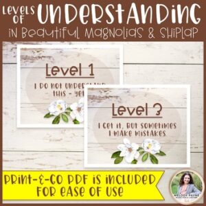 Levels of Understanding Posters Plus FREE Bookmarks {Magnolia Farmhouse Decor}