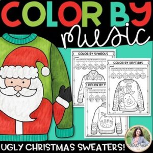 Christmas BUNDLE for the Music Classroom {Coloring, Note Naming, Rhythm, & More}