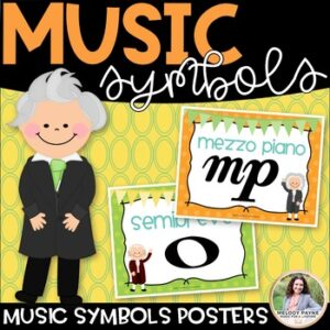 Music Symbol Posters {Color & BW, American & International Terms}