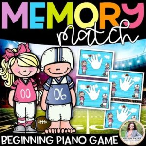 Beginning Piano Game: Finger Numbers Memory Match