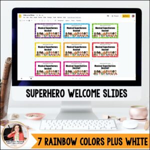 Recital Kit for Google Slides™: Invitations, Programs, Certificates {Superhero}