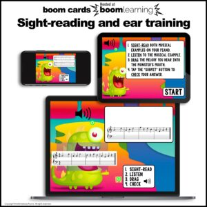 Music BOOM Cards: Treble Line Notes EGBDF Sight-Reading and Ear Training