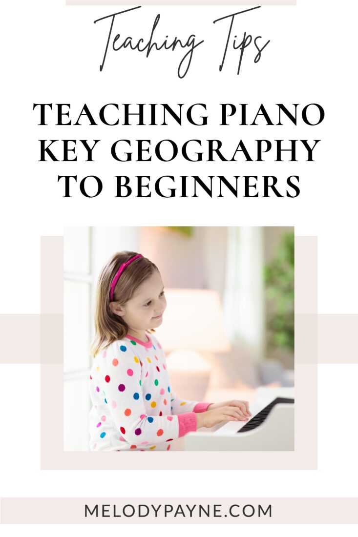 Little girl enjoying playing the piano