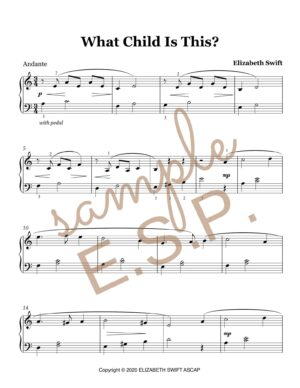 What Child Is This? for Early Intermediate Piano