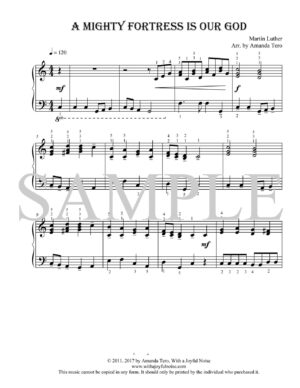 A Mighty Fortress is our God – Intermediate Piano Solo