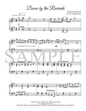 Down by the Riverside – Late Intermediate Piano Solo