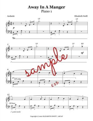 Away in A Manger for Piano Ensemble