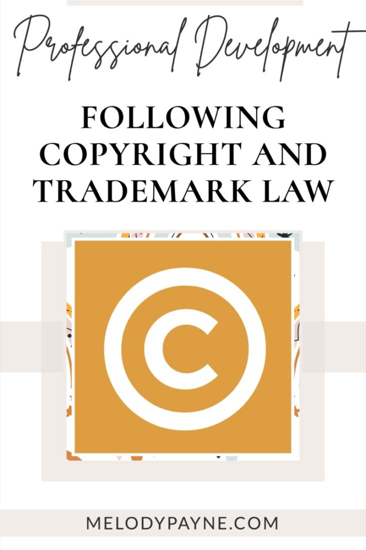 Copyright symbol, following copyright and trademark law in the piano studio