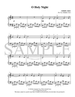 O Holy Night – beginner piano solo