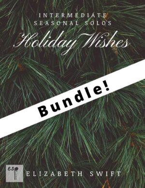 Holiday Wishes Studio 4 Piece Bundle for Intermediate Piano