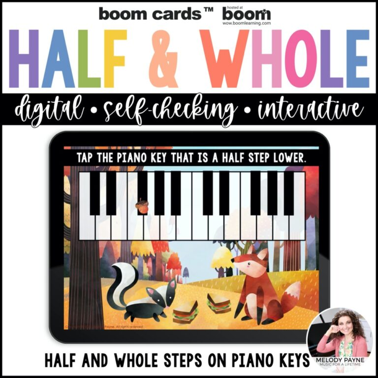 Autumn-themed Boom Cards for piano
